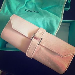 Authentic Tiffany & CO Leather Jewelry Roll/Case